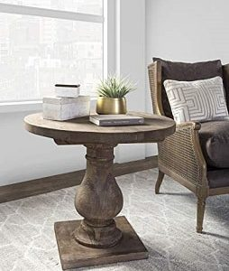 Round Rustic End Tables