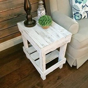 White Rustic End Tables