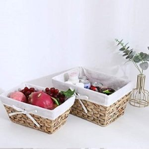 Wicker Baskets With Liners
